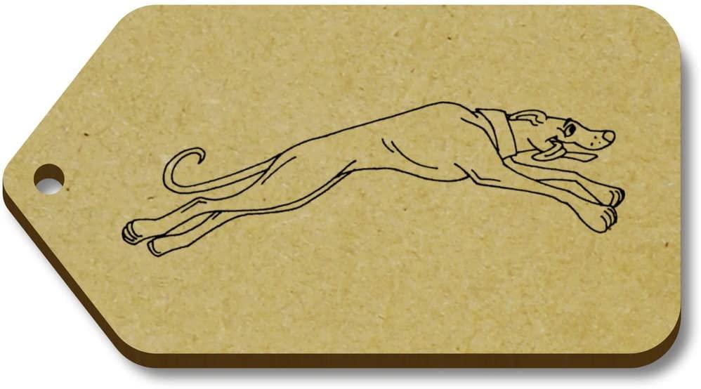 Azeeda 10 x 'Running Greyhound' 66mm x 34mm Gift Tags (TG00042557)