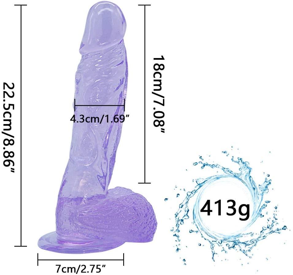 Lifelike 8.86-inch Huge Female Body Relaxing Wand Free Female - Blue - Quanzhirufen3.0