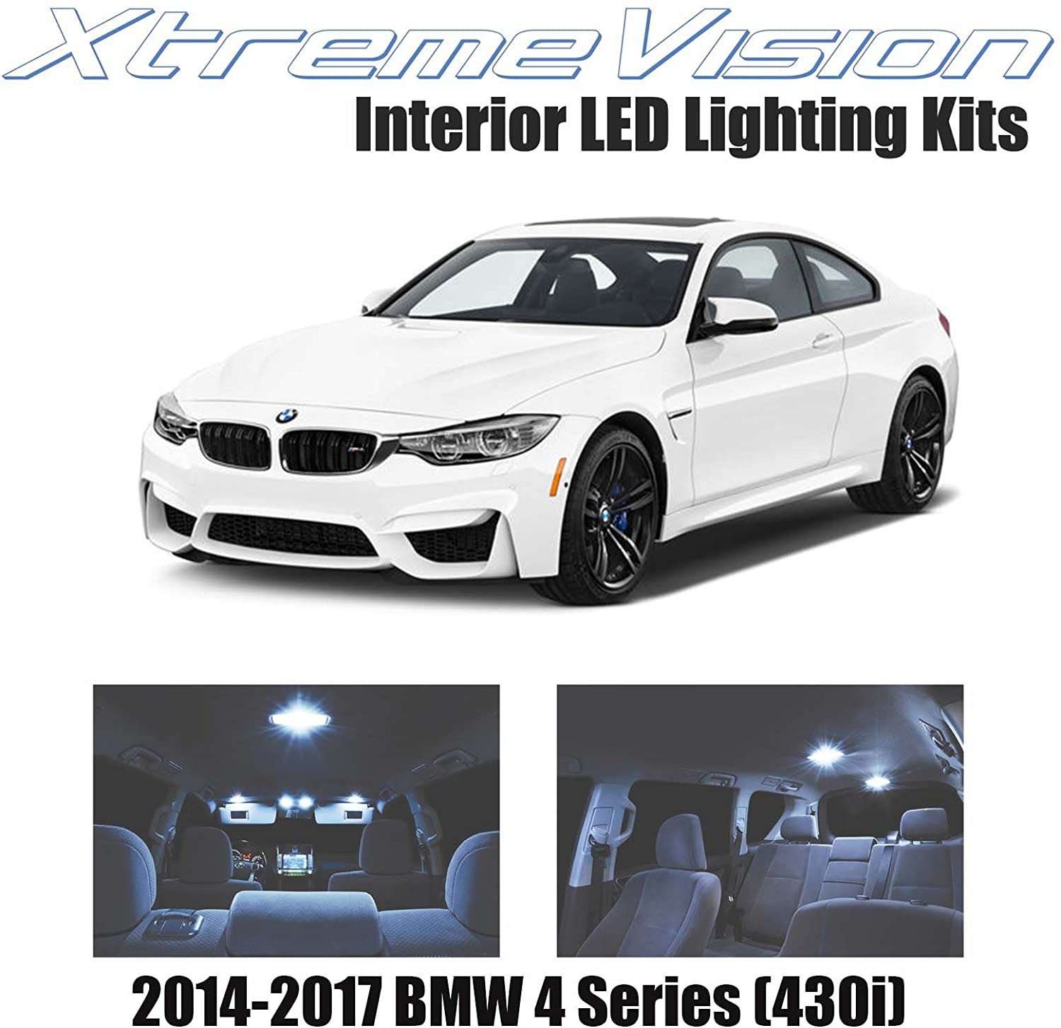 XtremeVision LED for BMW 4 Series (430i) 2014-2017 (12 Pieces) Cool White Premium Interior LED Kit Package + Installation Tool