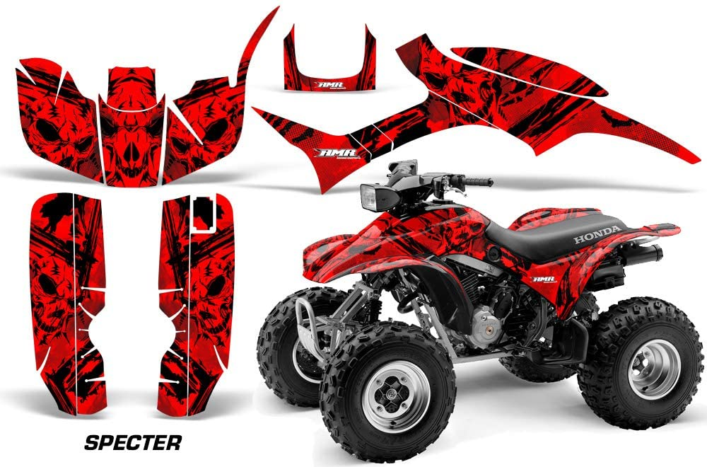 AMR Racing ATV Graphics kit Sticker Decal Compatible with Honda TRX 300EX 1993-2006 - Specter Red