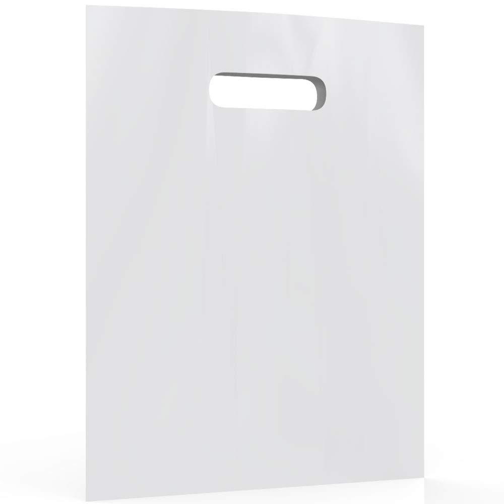 White Merchandise Plastic Shopping Bags - 100 Pack 9