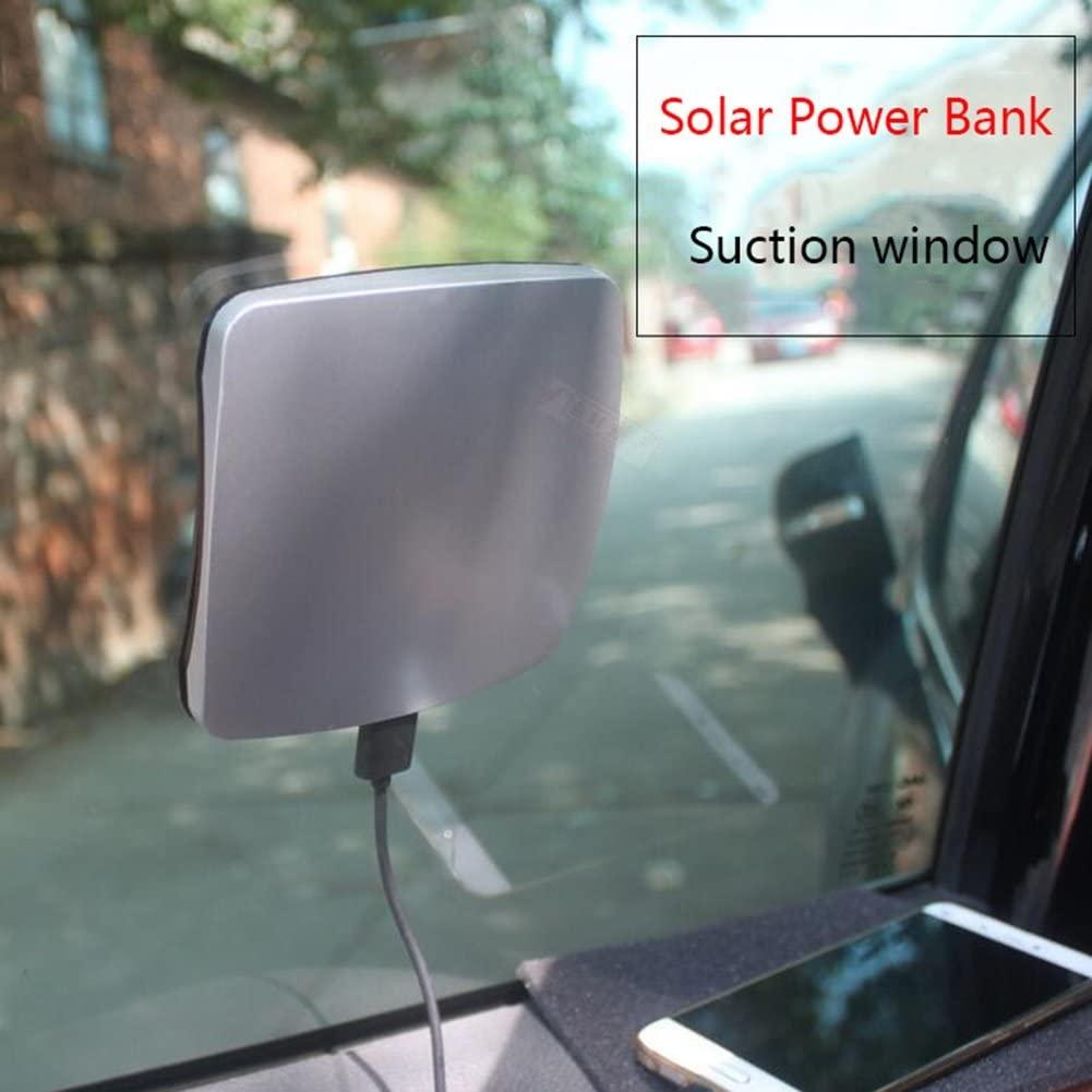 HUAN New Solar Power Bank Thin Solar Charger Power Bank Suction Window External Battery