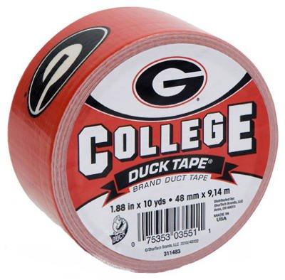 Duck Brand 240073 College Logo Duct Tape, 10 yds Length x 1-7/8 Width, Georgia Print