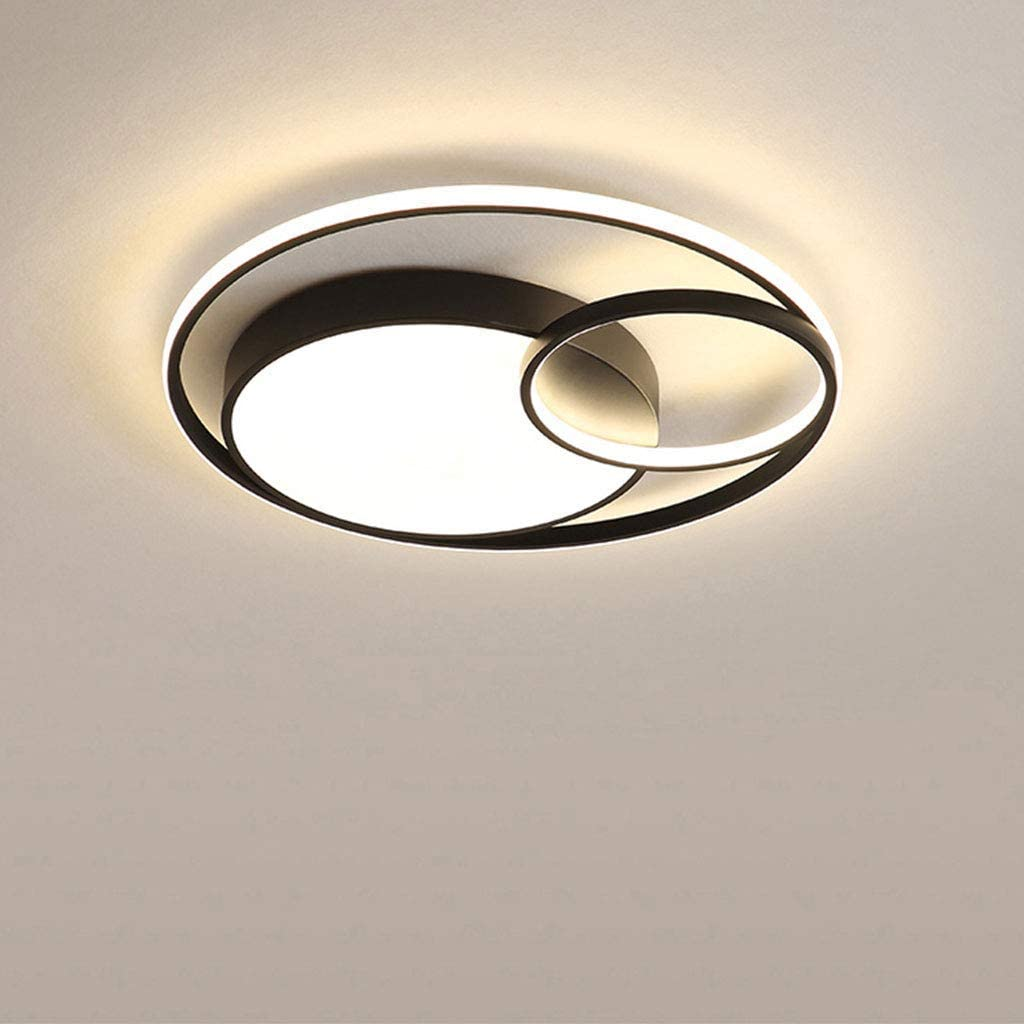 LED Ceiling Light Modern Ultra-Thin Ceiling Lights 40W 2400LM with Remote Control Dimming Acrylic Lampshade Applicable Living Room Kitchen Dining Bedroom Hallway Lighting Ceiling Lamp Black
