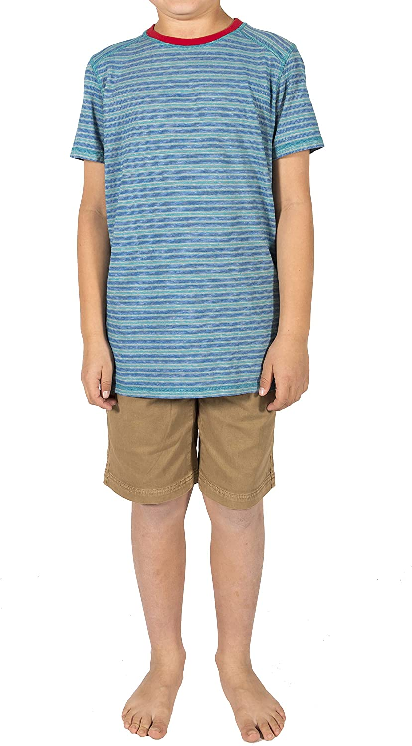 Stone Routes Boys Campsite Yard Dye Tee Shirt, M (10) Imperial Blue