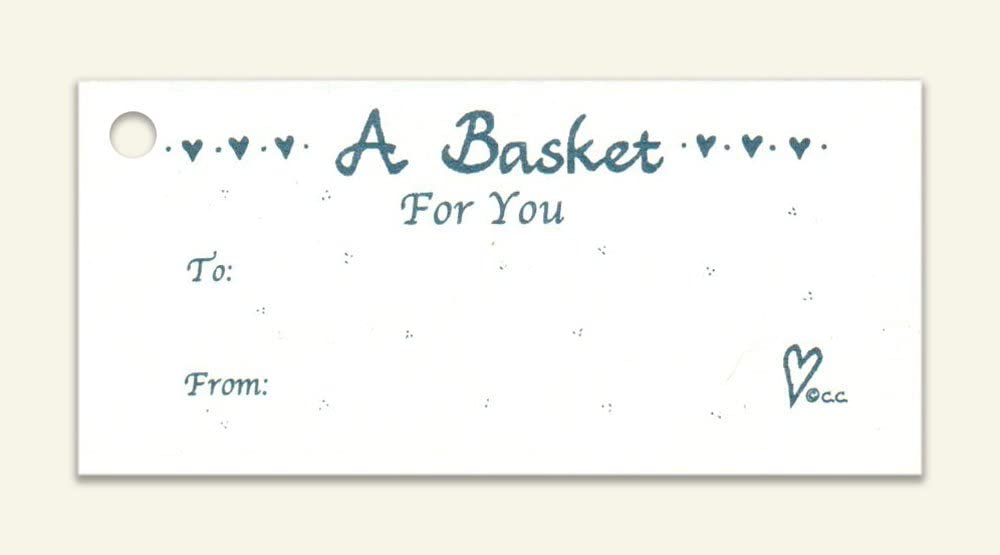 100 A Basket for You~to~from~Hang Tags & 100 Cut Strings for Crafts & Gifts. Personalize & Price Your Merchandise.