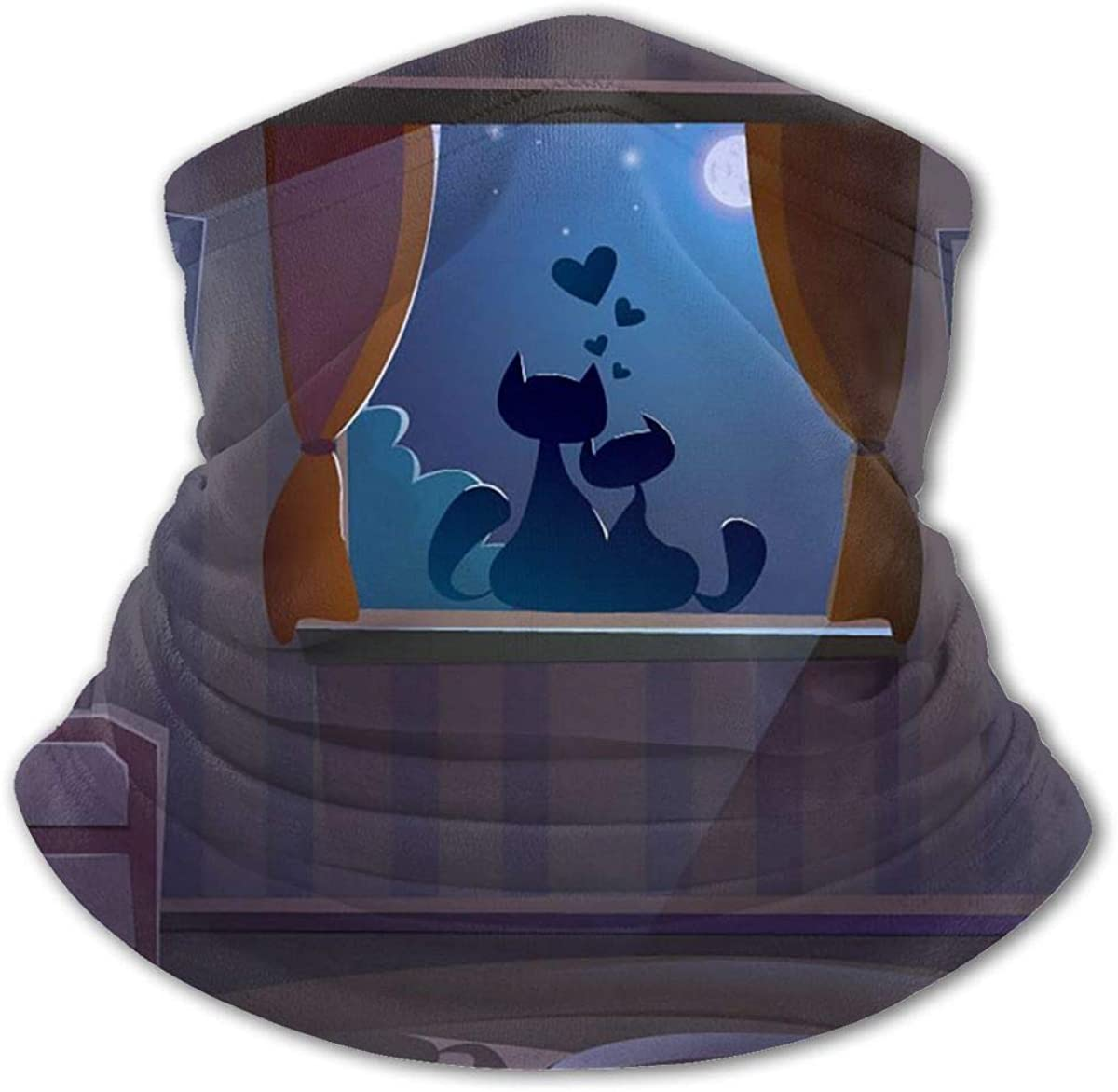 Cats Windowsill Headwear For Girls And Boys, Head Wrap, Neck Gaiter, Headband, Tenn Fishing Mask, Magic Scarf, Tube Mask, Face Bandana Mask For Camping Running Cycling