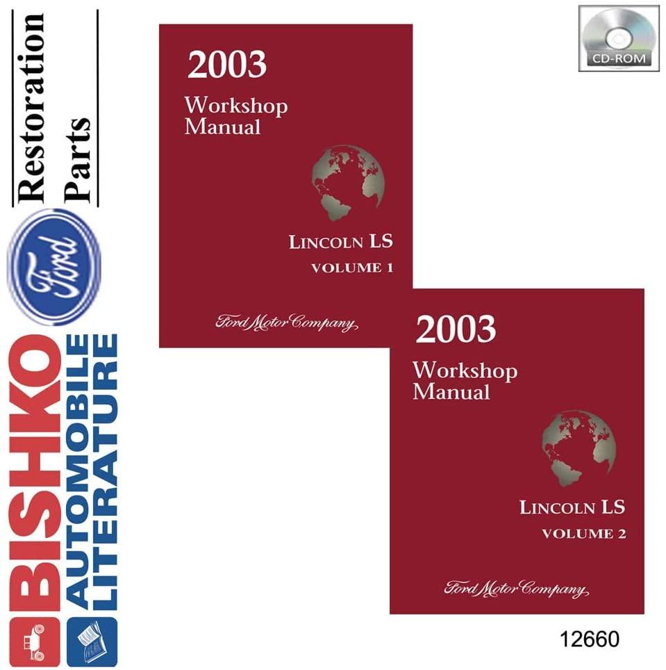 bishko automotive literature 2003 Lincoln LS Shop Service Repair Manual CD