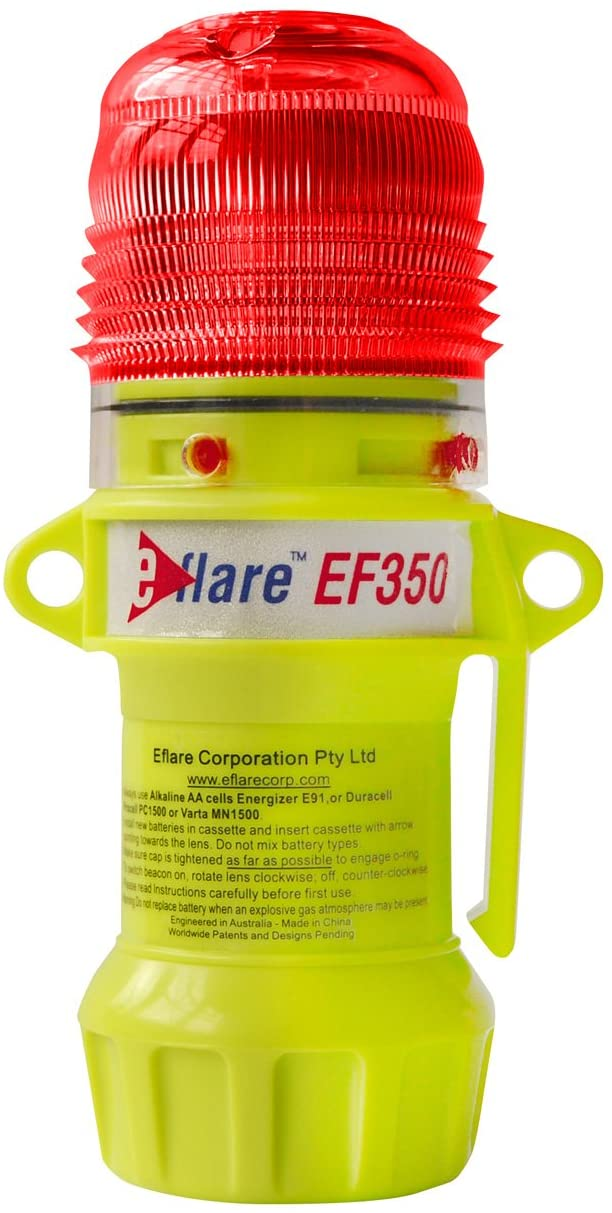 E-Flare 939-EF350-R 6 Safety and Emergency Beacon, Flashing Red