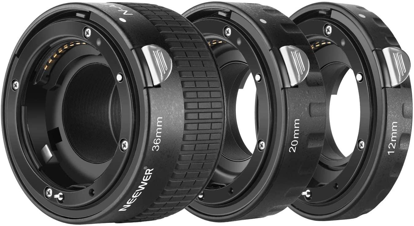 Neewer 12mm,20mm,36mm AF Auto Focus ABS Extension Tubes Set for Nikon DSLR Cameras Such as D7200,D7100,D7000,D5300,D5200,D5100,D5000,D3300,D3200,D3000,D40,D40x,D100,D200,D300,D3,D3S,D700,D90