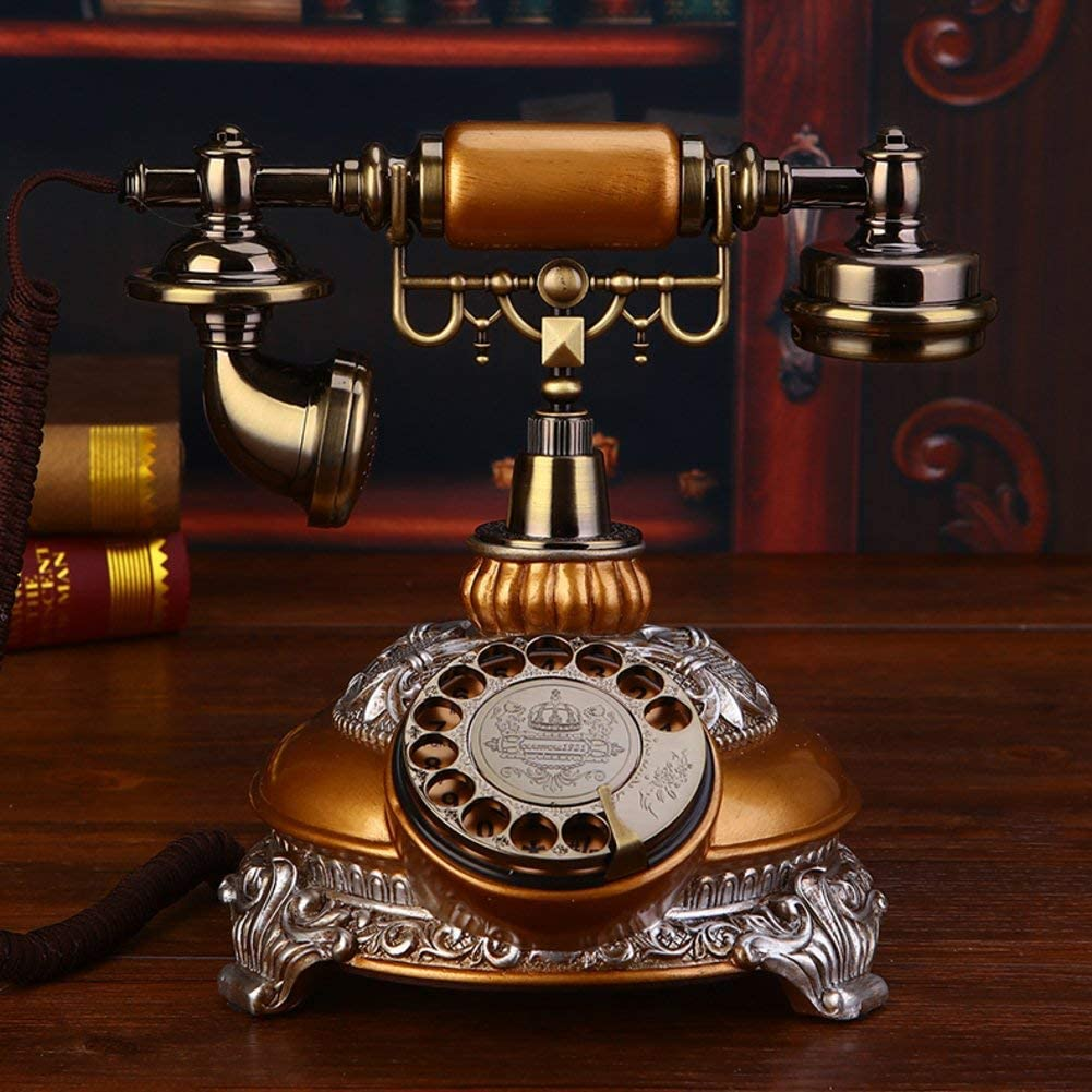 LKK-KK Vintage Creative Phone Home Retro Fixed Caller ID Solid for Home Decoration - A 20x25x26cm (8x10x10 inches)