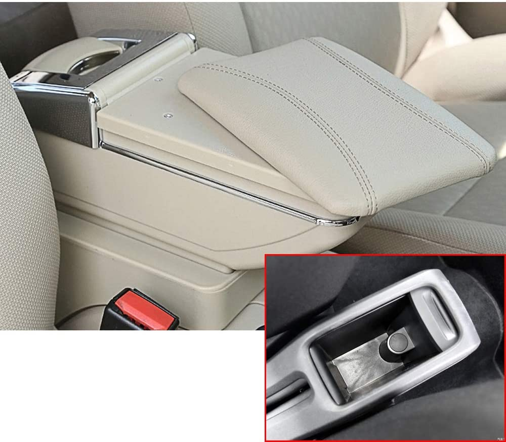 8X-SPEED for Citroen c-Elysee/PG 301 01-08 Car Armrest Center Console Accessories Arm Rest Beige