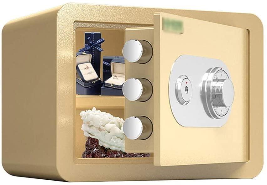 WYZBD Safe, Fireproof Metallic Material, Waterproof Wall-Mounted Large-Capacity Home Bedroom Lock Box,A