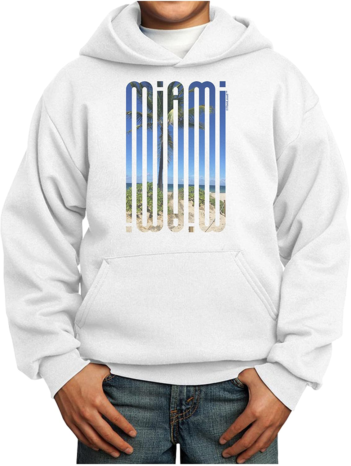 TOOLOUD Miami Beach View Mirage Youth Hoodie Pullover Sweatshirt