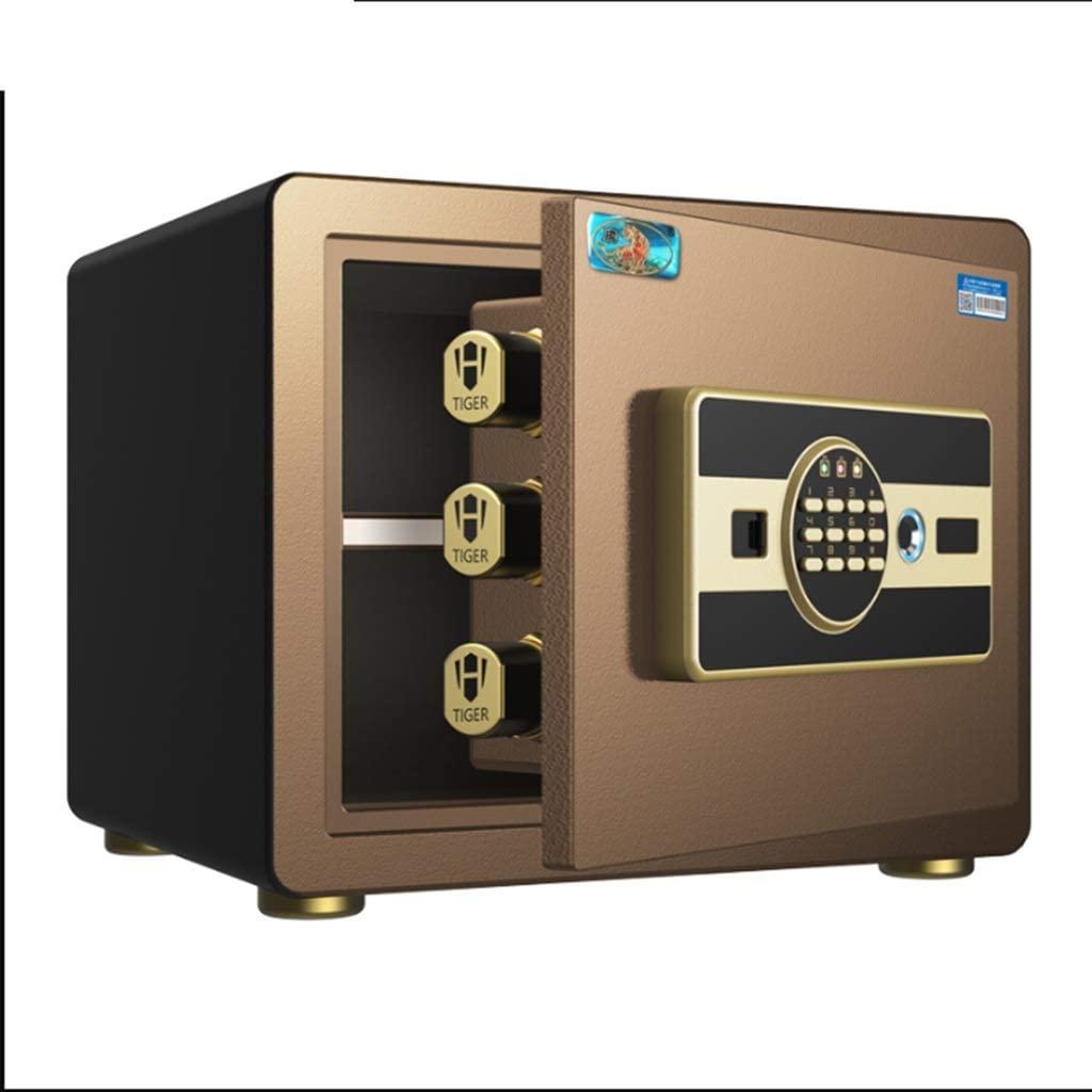 LIFEIYAN Safe, Home Small Invisible Bedside Table, Smart Fingerprint Password Safes, Mini Safe Box 30cm Deposit Box smart home safe (Color : Coffee, Size : Fingerprint)