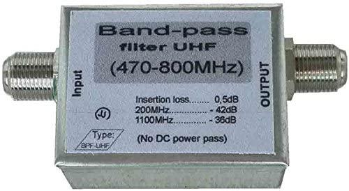 UHF BandPass filter, 470-806MHz bandpass filter