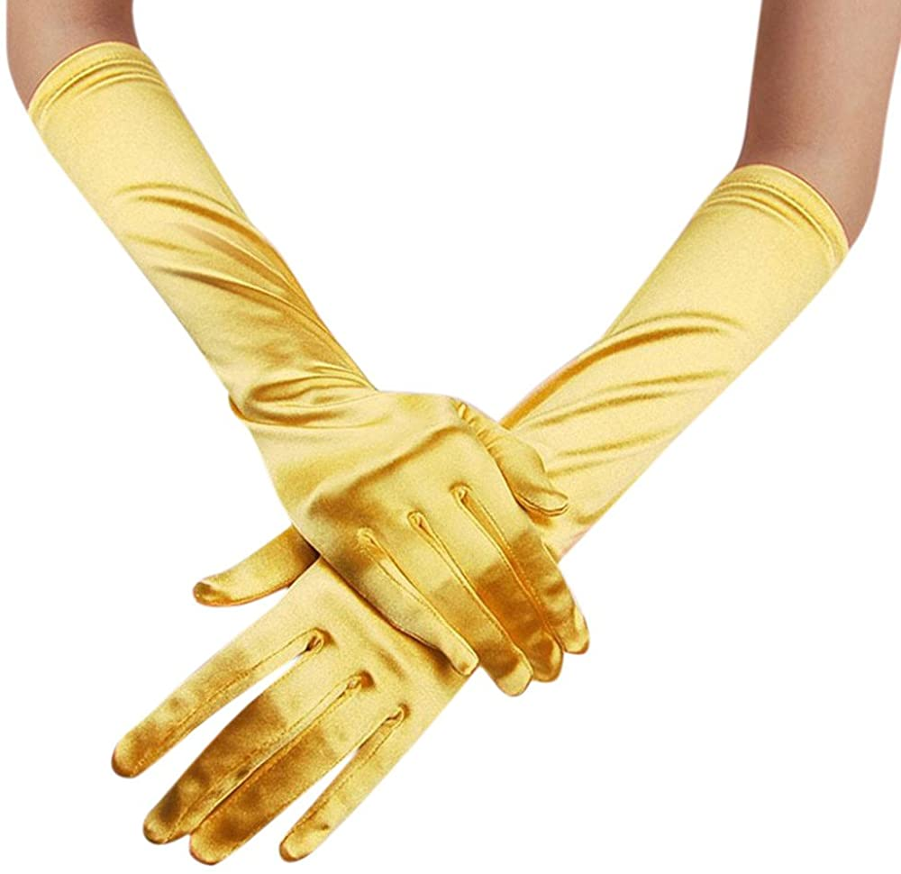 Alalaso Womens Satin Long Gloves Opera Wedding Bridal Evening Party Prom Gloves