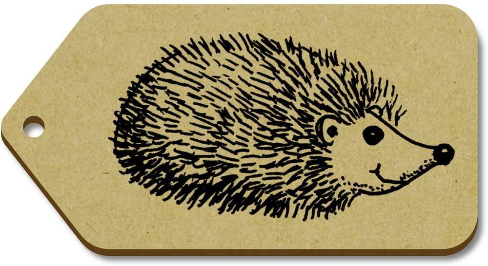Azeeda 10 x Large 'Hedgehog' Wooden Gift Tags (TG00018817)