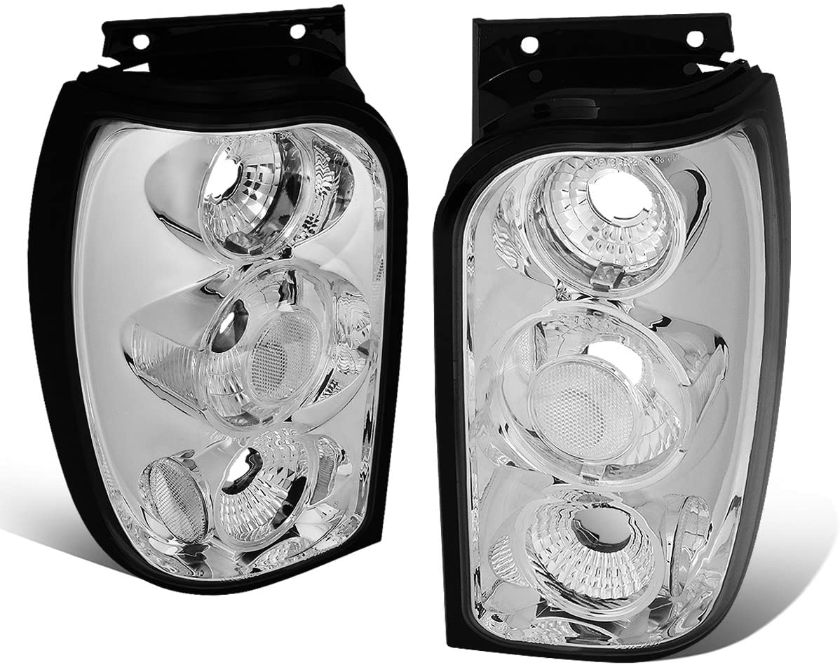 DNA Motoring CLOSE-TLC-EXPL-9801 Chrome Altezza Style Tail Light [For 98-01 Ford Explorer]