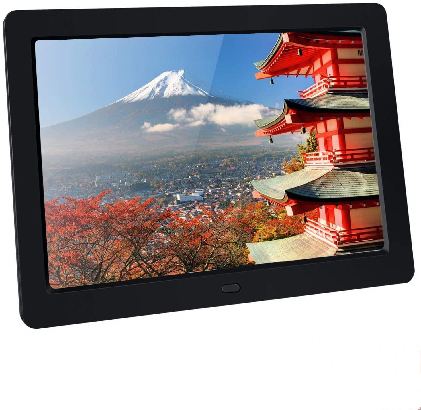 BRAV 10.1 inch Digital Picture Frame HD1280×800 IPS Screen Support Photo/Video/Music/Clock/Calendar Contains 32G High-Speed SD Card
