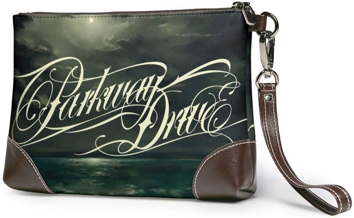 Parkway Drive Soft Lambskin Leather Wristlet Clutch Bag for Women Designer Large Wallets