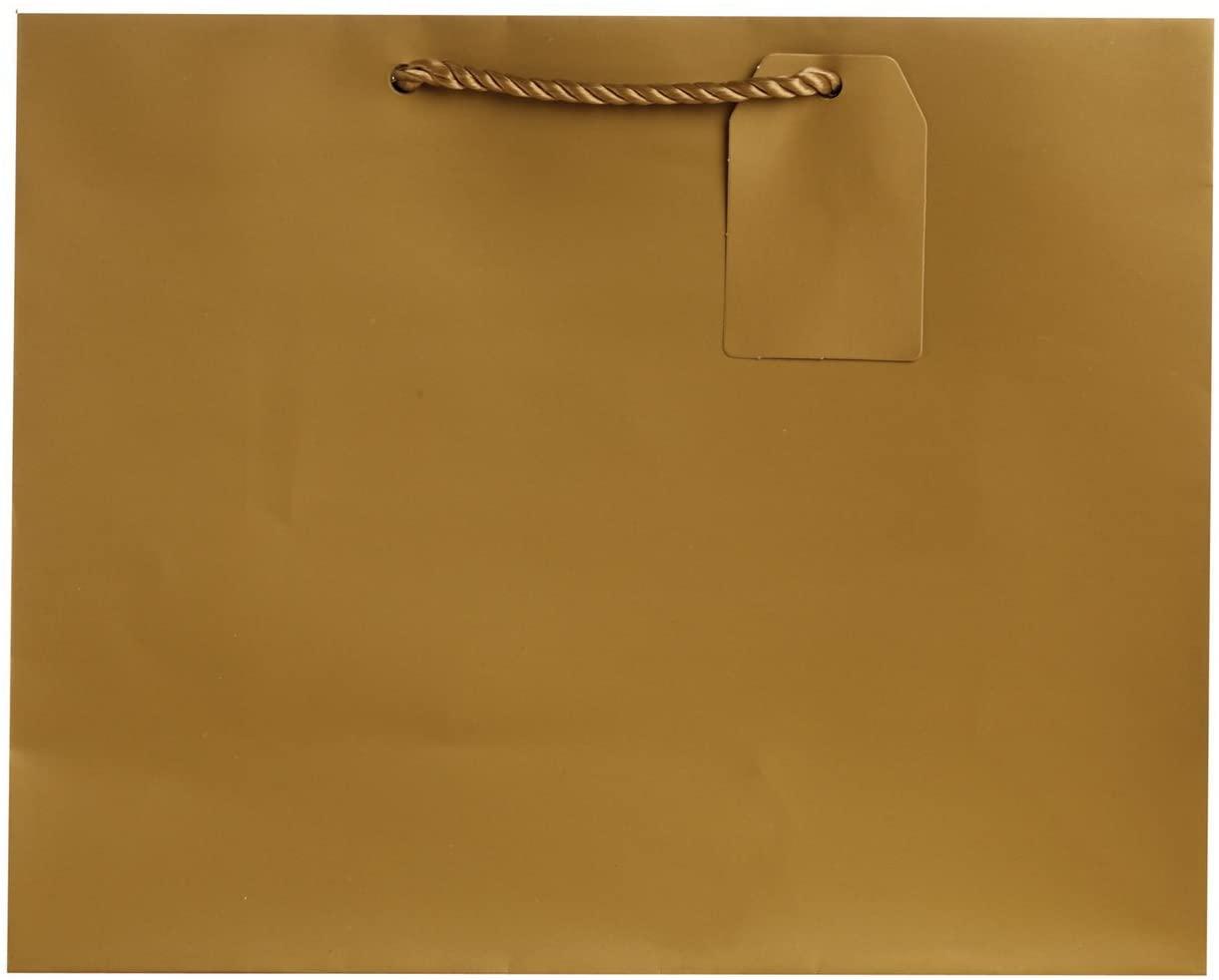Jillson Roberts Jumbo Gift Bags, Gold Matte, 6-Count
