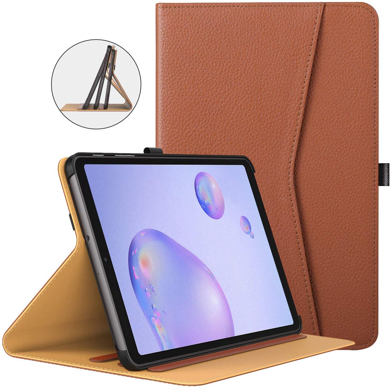 TiMOVO Case for All-New Samsung Galaxy Tab A 8.4 Inch 2020 Release Model SM-T307, Multiple Viewing Angles Folding Folio Stand Cover Pocket Case Fit Galaxy Tab A 8.4 2020 Tablet - Brown