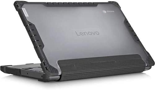 Lenovo Case for 100e Chrome MTK Chromebook - Black, Transparent - Bump Resistant, Drop Resistant - Polycarbonate, Thermoplastic Polyurethane (TPU)