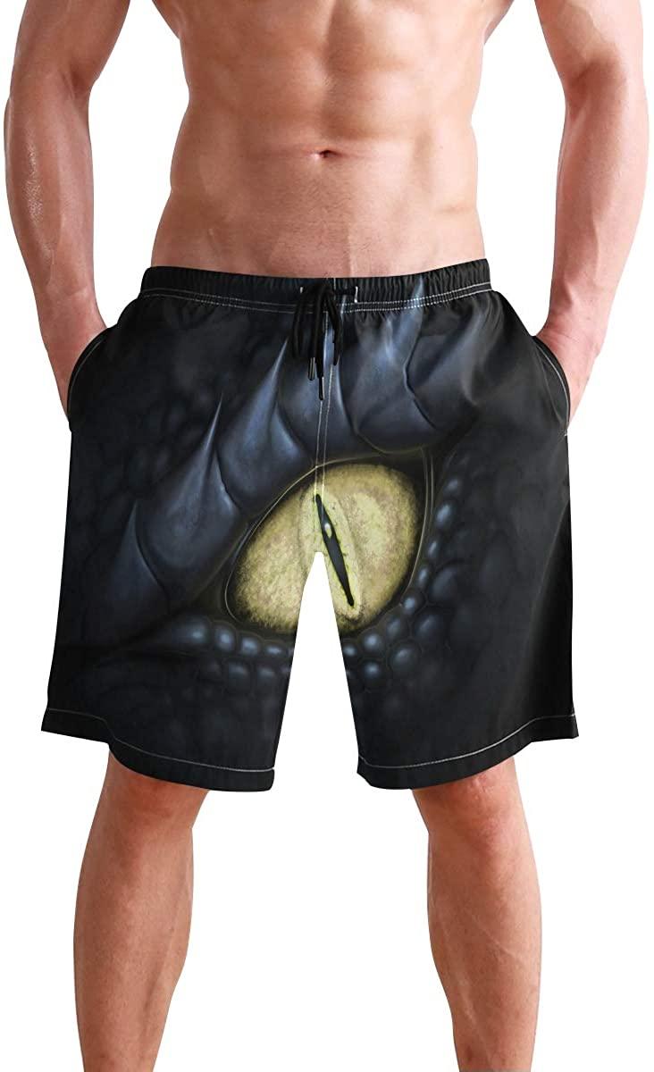 Mens Shorts Dragon Eyes Trendy Marvellous Gym Short Workout Pants for Boys, S