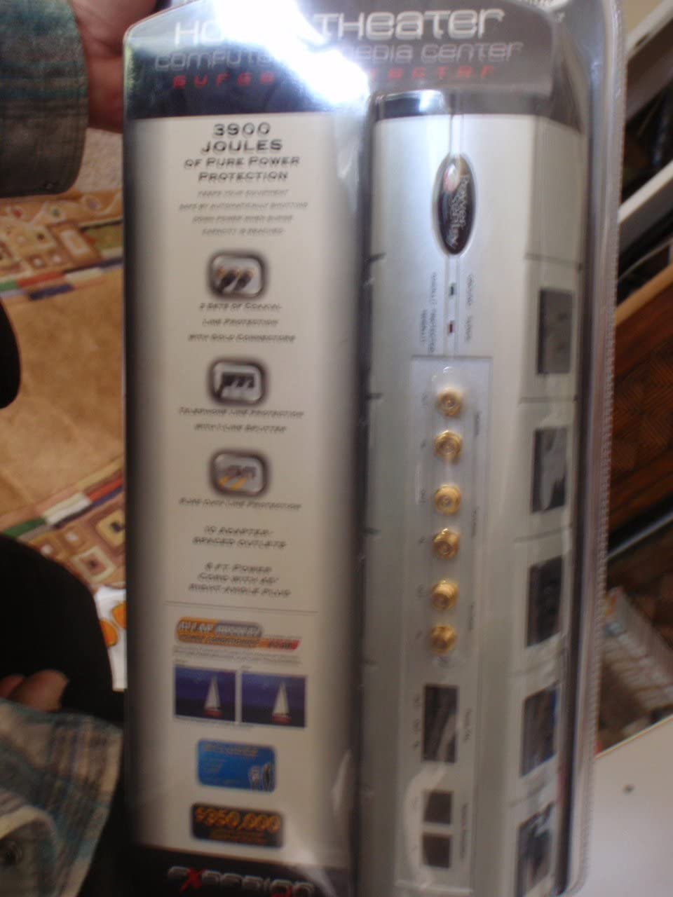 Power Sentry S1041689812 10-Outlet Home Theater Surge Protector