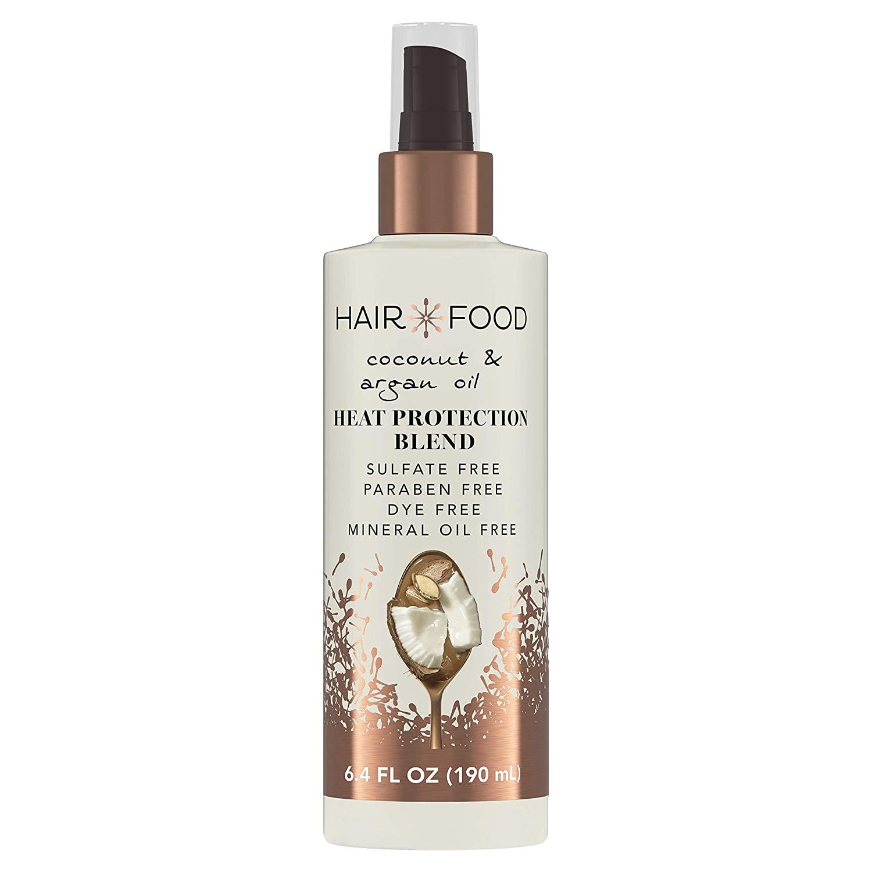 Hair Food Coconut & Argan Oil Heat Protectant Spray Blend, 6.4 fl oz | Heat Shield Protector
