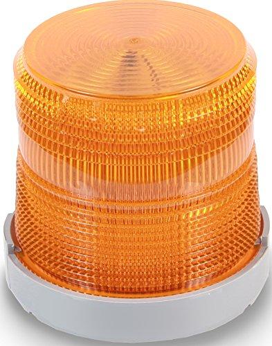 Edwards Signaling 48XBRMA24D Xtra-Brite LED Multi-Mode Beacon, Polycarbonate/ABS Blend Base, 24V DC, Amber
