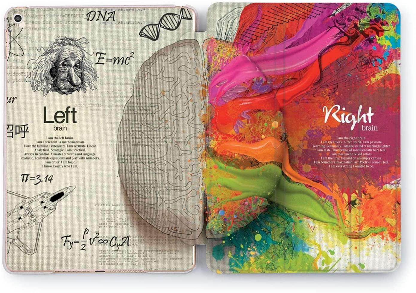 Wonder Wild Brain Hemisphere Apple iPad Pro Case 9.7 11 inch Mini 1 2 3 4 Air 2 10.5 12.9 11 10.2 Design 5th 6th Gen Clear Smart Hard Cover Dualism Mathematical Creativity Scientist Artist Bright