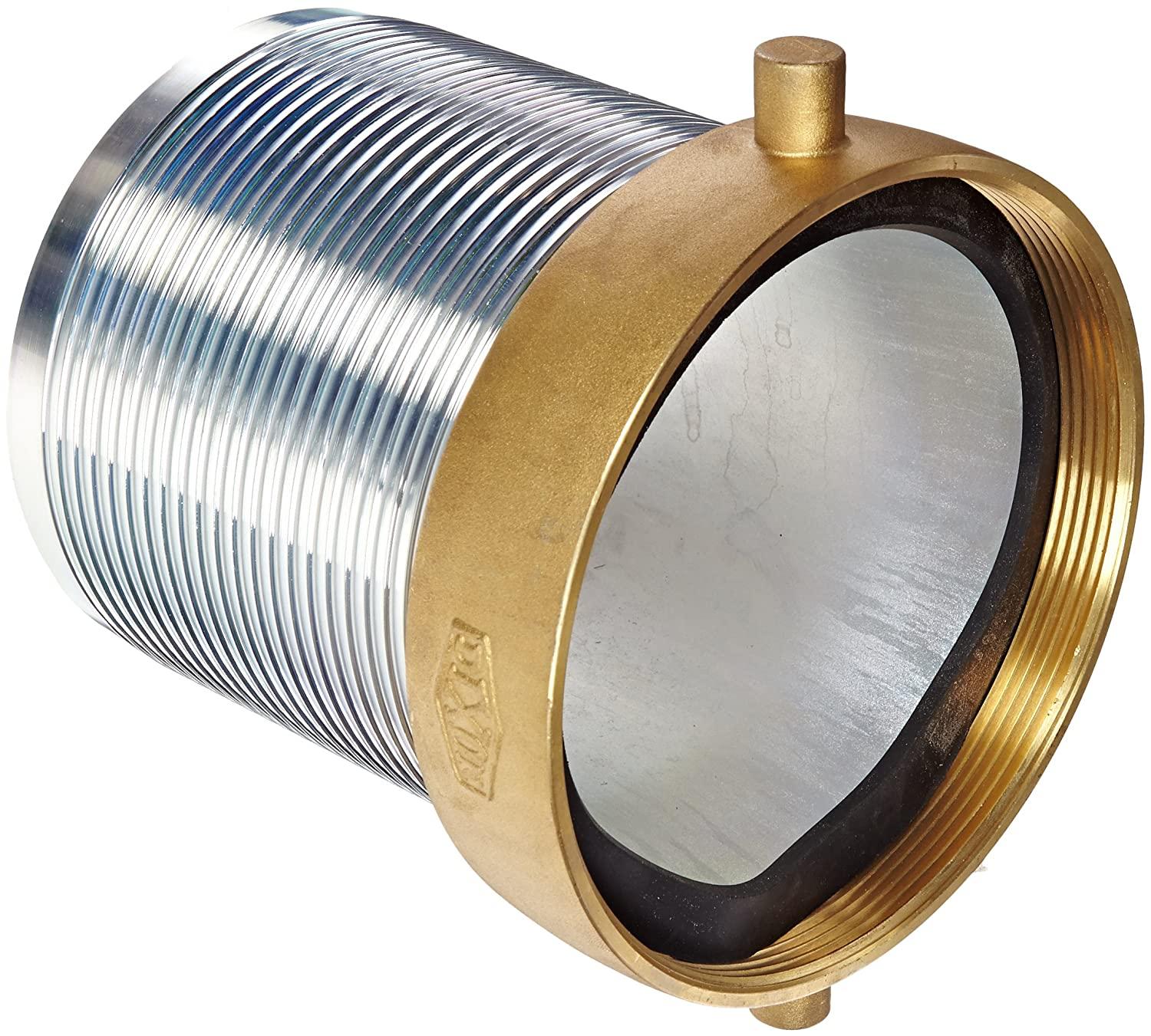 Dixon Valve FCSB600 Steel Shank/Water Fitting, King Short Shank Suction Coupling with Brass Nut, 6