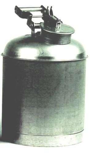 Eagle 1323 Stainless Steel 316 Disposal Safety Can, 2-1/2 Gallon Capacity, Silver