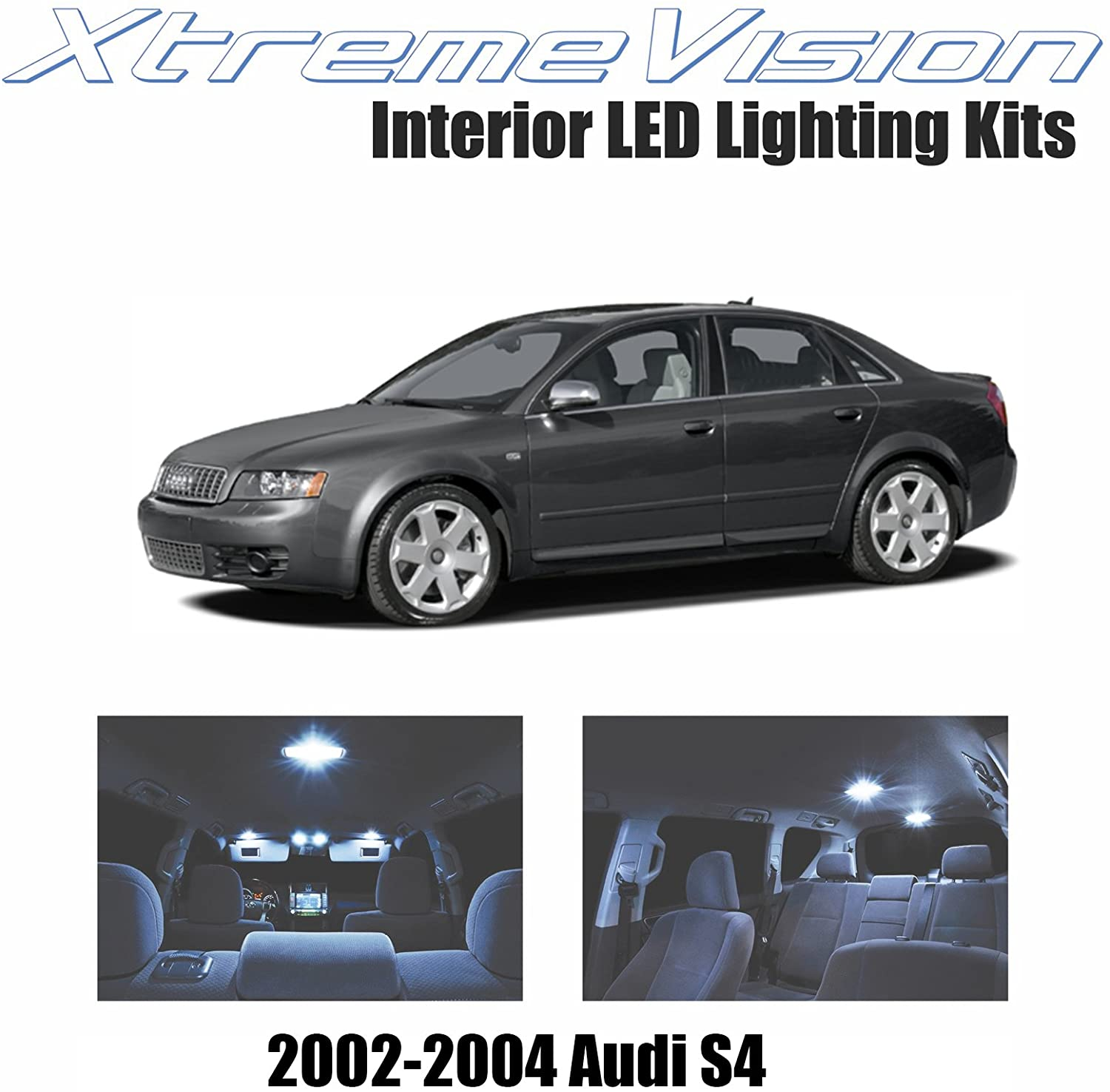 XtremeVision LED for Audi S4 2002-2004 (14 Pieces) Cool White Premium Interior LED Kit Package + Installation Tool