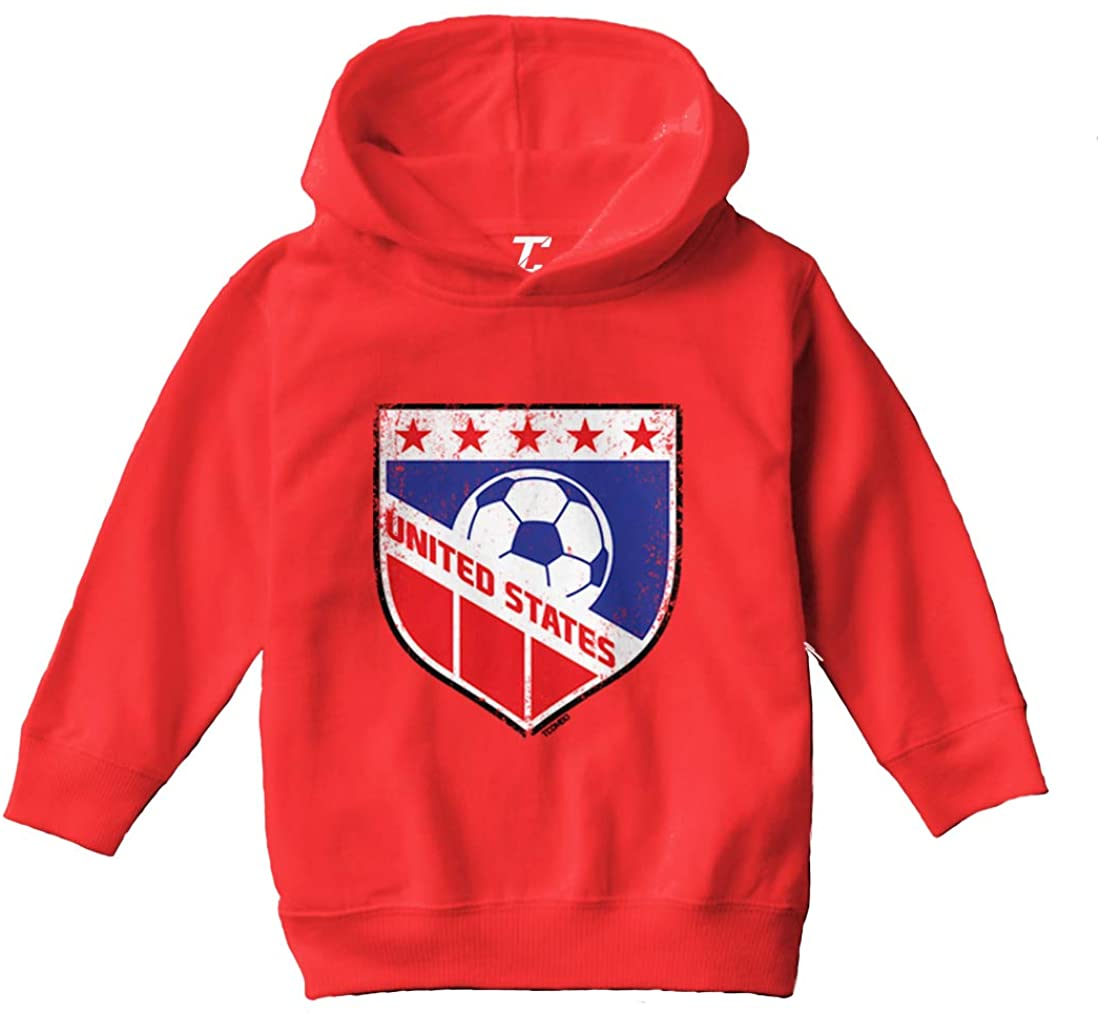 United States Soccer - Distressed Badge Toddler/Youth Fleece Hoodie