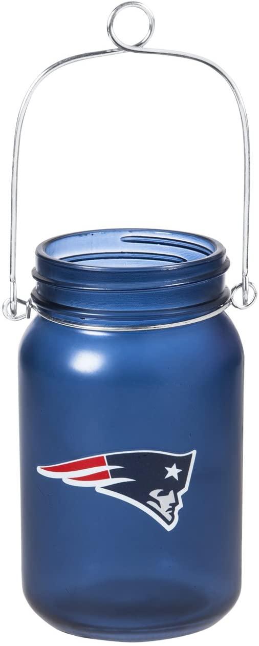 Team Sports America NFL Mason Jar LED Lantern with String Lights, Team Logos and Colors