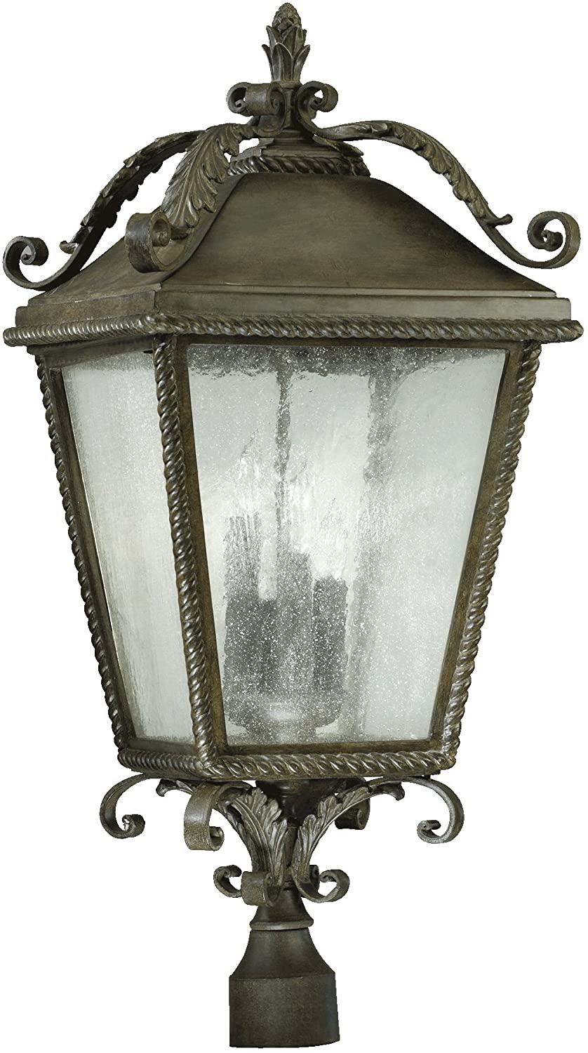 Quorum International 7912-4-43 Rochelle 4 Light Post, Toasted Sienna