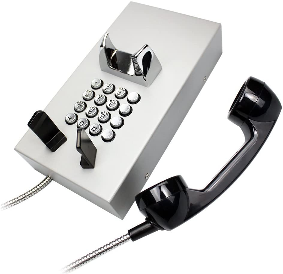 KNTECH KNZD-05 Professional Help Telephone Wall Mount Emergency Service Phone,Sliver