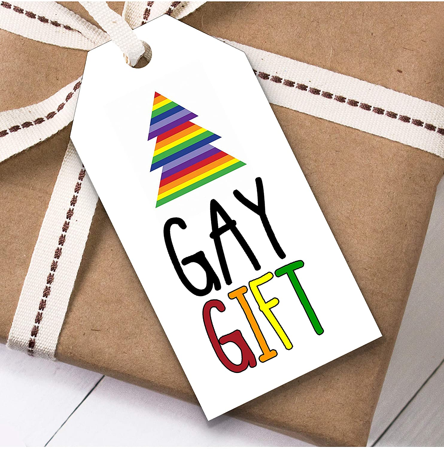 Gay Gift Christmas Gift Tags (Present Favor Labels)