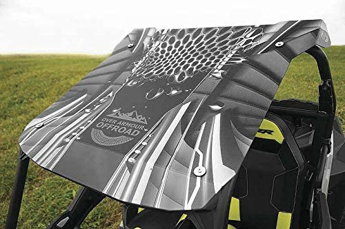 OVER ARMOUR OFFROAD POLYCARB PRINTED ROOF BLK MELT XP 1K/TUR 14-18/900XC 15-17,900/S 15-18,S1000 16-18 PO-14RZRPRINT-BM-T