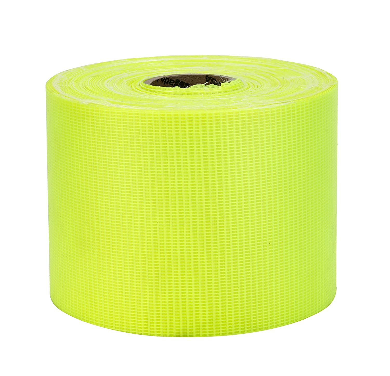 Mutual Industries 17772-139-4000 Vinyl Coated Nylon Reinforced Fluorescent Barricade Tape, 4