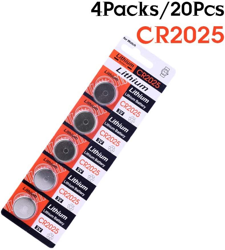 CR2025 BR2025 DL2025 KCR2025 2025 3V Button Coin Cell Battery Bulk Lot 20Pcs