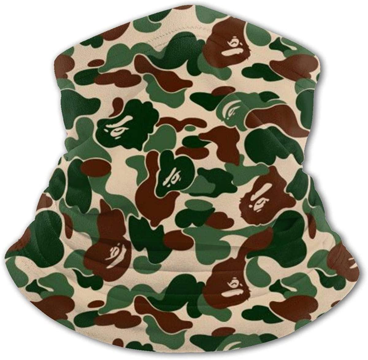 Aniamlcamouflage Green Headwear For Girls And Boys, Head Wrap, Neck Gaiter, Headband, Tenn Fishing Mask, Magic Scarf, Tube Mask, Face Bandana Mask For Camping Running Cycling
