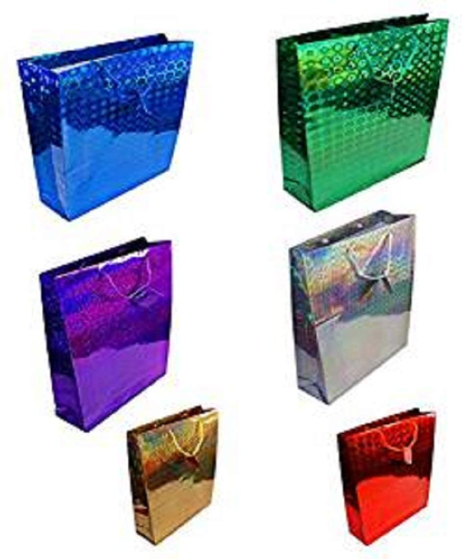 Medium Size Hologram Gift Bags 12 Pack