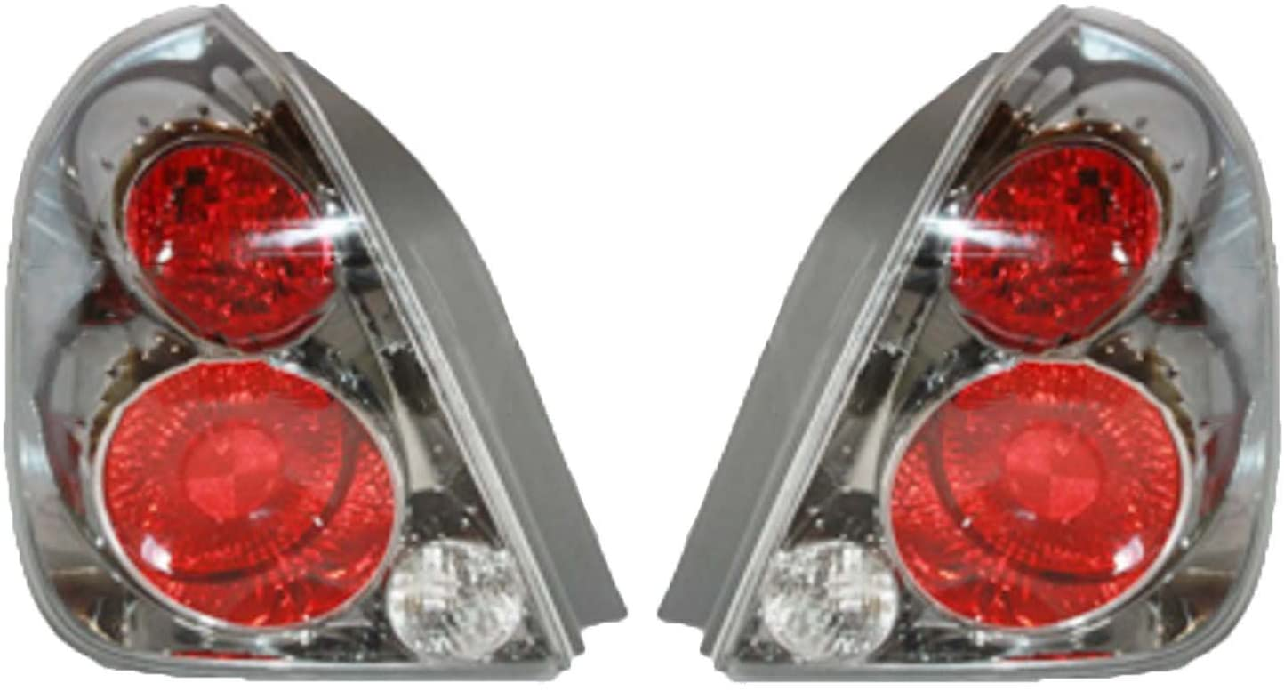 Rareelectrical NEW PAIR OF TAIL LIGHT COMPATIBLE WITH NISSAN ALTIMA 2005-06 NI2800164 26555-ZB025 NI2801164 26555ZB025 26550-ZB025 26550ZB025