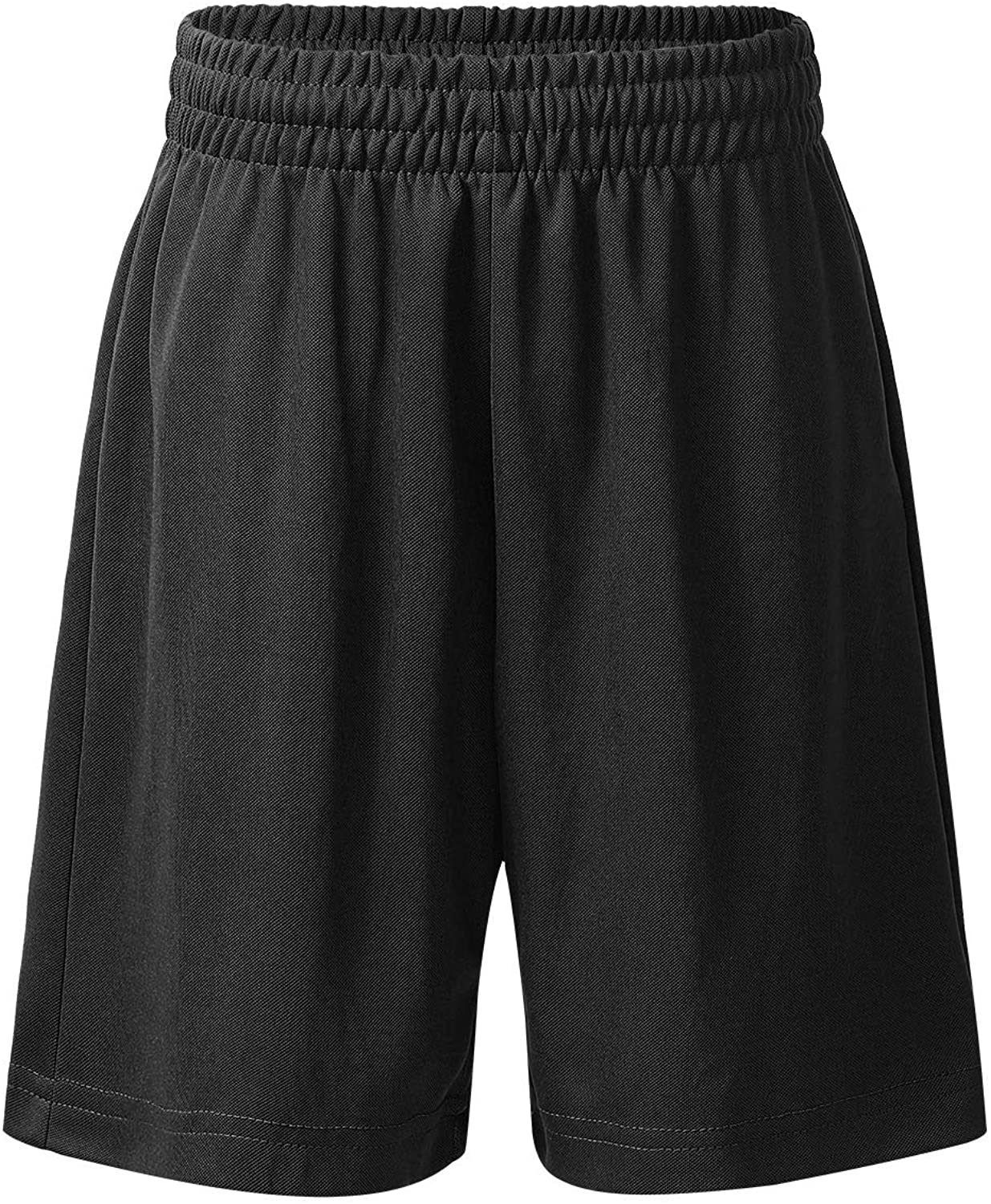 moily Unisex Boys Girls Stretchy Waistband Solid Loose Athletic Shorts for Sports/Workout/Dance