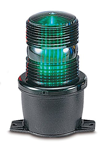 Federal Signal LP3T-240G Streamline Low Profile Strobe Light, T-Mount, 240 VAC, Green