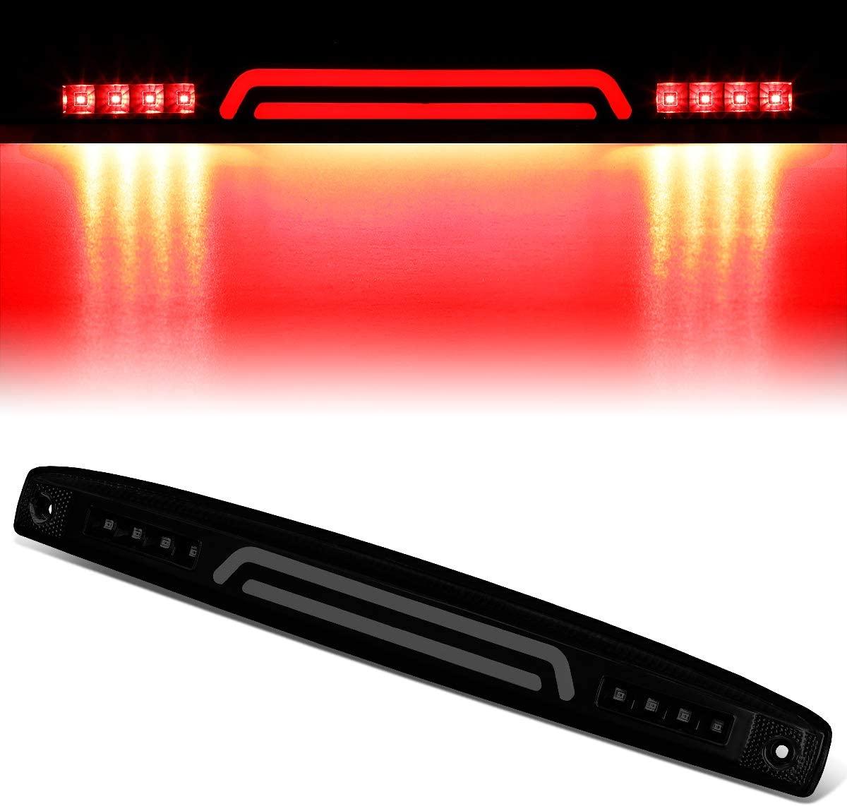Tinted Housing 3D LED Bar Center Tailgate Lamp Brake Light Replacement for 03-06 Dodge Ram Truck 2500 3500
